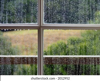 Window with Rain Drops