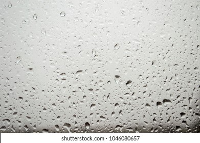 window with raindrops on glass