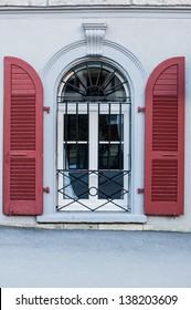 Window with Red Door