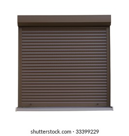 Window with roller shutter - CLIPPING PATCH INCLUDED