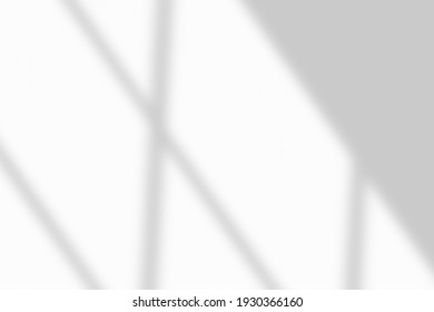 Window shadow drop on white wall background