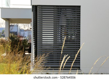 Window with shutter (exterior shot)