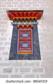 Window style in Potala palace, Tibet