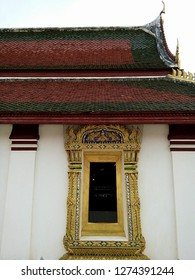 A window of the temple in Wat Phra Sri Rattana Mahathat temple , Phitsanulok Thailand.