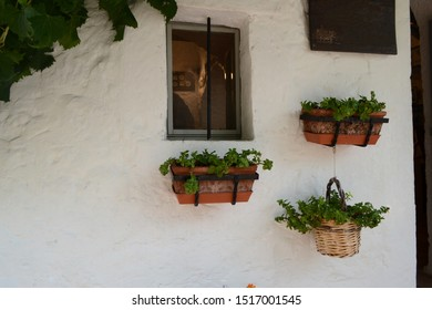 Window in the trulli village Alberobello - Italy