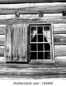 Window at Vance Birthplace near Weaverville, NC. Vance was NC's Civil war Governor