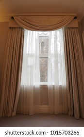 window with a view to the church