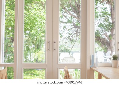 Window with a view of the garden