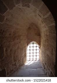 Window view inside Citadel of Qaitbay ,19 September 2019 ,Alexandria-Egypt
