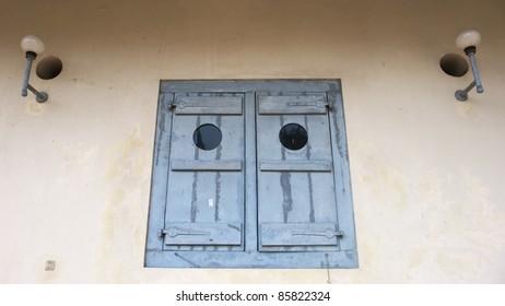 a window in vredeburg fort complex,  jogjakarta