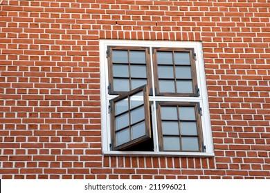 window in a wall