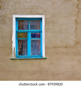 window and wall texture old art
