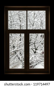 Window in winter.