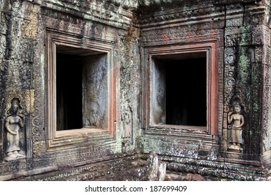 Windows in ancient Angkor temple