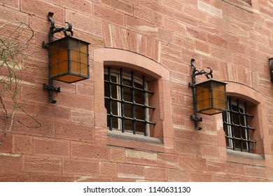 Windows with bars on the old house / Miltenberg (Germany)
