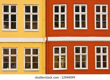 Windows of a colorful building