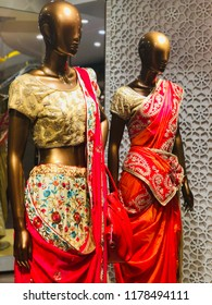 Windows display with Embrodery hand work design