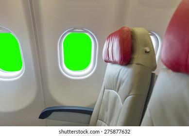 windows green screen in aircraft