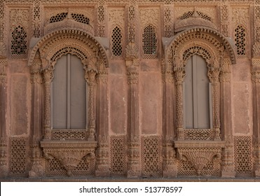Windows of an historical palace in Rajastan.