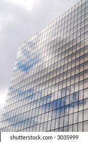 Windows of modern business building