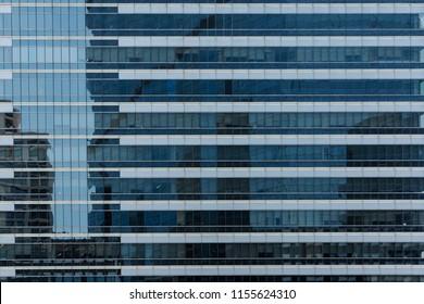 Windows of modern city business building skyscraper, background, texture