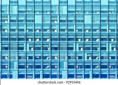 Windows of a modern office building