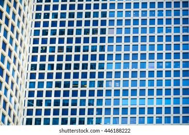 windows of modern skyscraper in the city