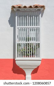 Windows in the Old City portion of Cartagena, Colombia, known for its colorful Spanish colonial architecture