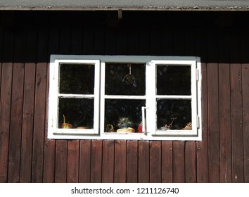 Windows in an old cottage