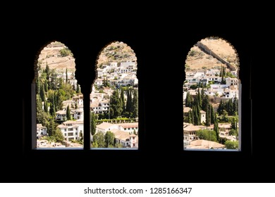 Windows to the old town of Granada