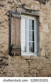 Windows on brick or concrete walls