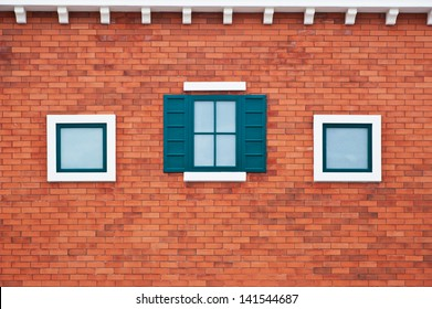 Windows on the bricks wall
