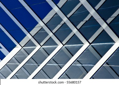 windows on a modern office building making a background pattern effect