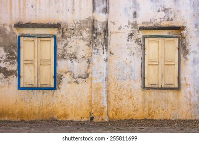 Windows on an old wall