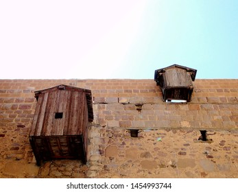 Windows on Saint Catherine Monastery at the foot of  Mount Sinai on the Sinai Peninsula in Egypt, used for food transmission while fast period. Mount Sinai is a possible location of the biblical Mount