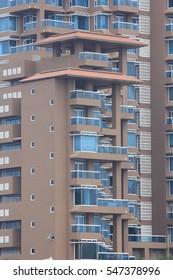 Windows on skyscraper