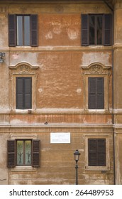 Windows seen from Keats-Shelley House, Rome, Europe, overlooking the Spanish Steps