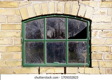 Windows seen on a old farm in Denmark