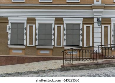Windows shut with metal shutters