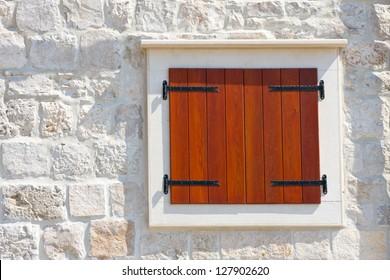 Windows and shutters, Maslinica, Solta Island, Croatia