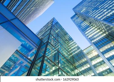 Windows of Skyscraper Business Office, Corporate building in London City, England, UK  - Shutterstock ID 162929063