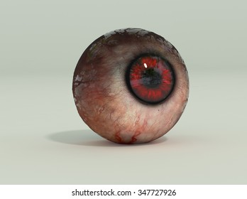 The windows to the soul. High detail 3D render.