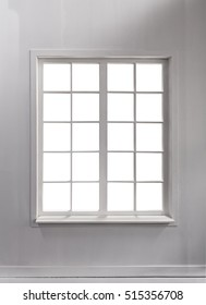 Windows in a white room and white background