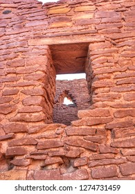 Windows at Wupatki National Monument in Arizona.