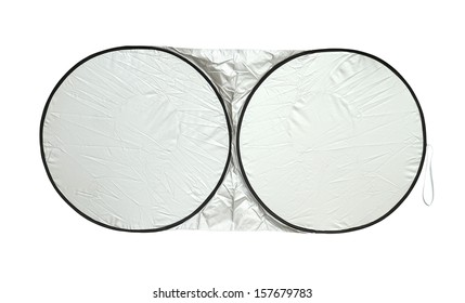 Windshield awning pad (with clipping path) isolated on white background