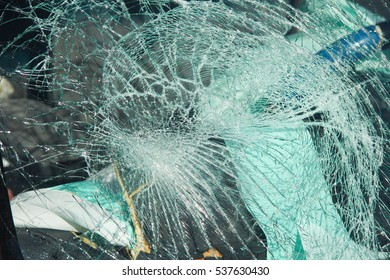 Windshield Car Wreck Shattered