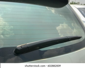 windshield wipers of the car