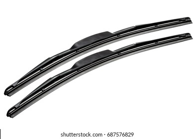 windshield wipers for cars isolated on a white background.
