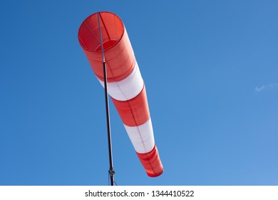 windsock with blue skys