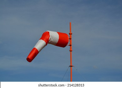 Windsock in calm overcast weather